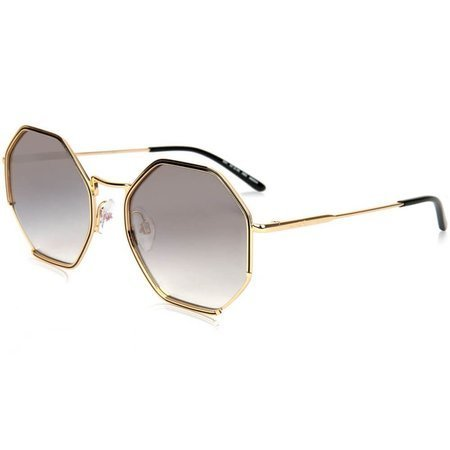 Ana Hickmann okulary przeciwsłoneczne heksagonalne, złota oprawa z czarną ramką