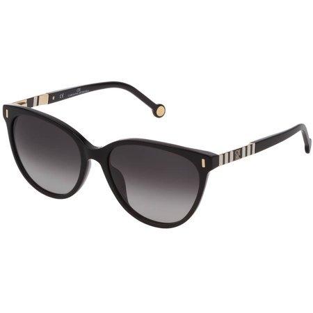 Carolina Herrera okulary przeciwsłoneczne w kolorze czarny błysk, kształt kocie oczy