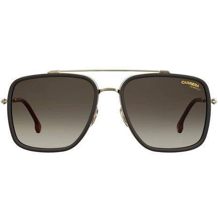 Carrera modne okulary przeciwsłoneczne pilotki z delikatną ramką i wyraźnym logo