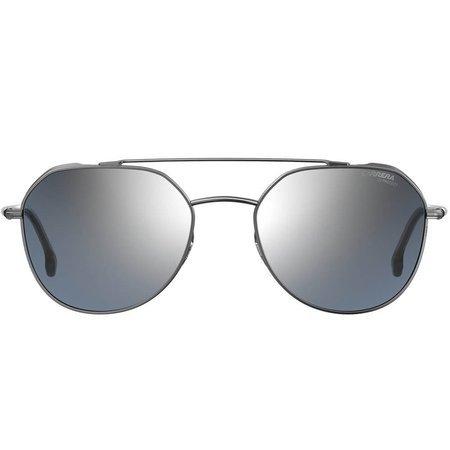 Carrera okulary przeciwsłoneczne pilotki z podwójnym mostkiem, w kolorze srebrnym z lustrem
