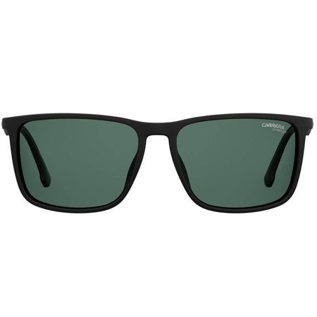 Carrera okulary przeciwsłoneczne w modnym sportowym fasonie, czarne gumowane tworzywo