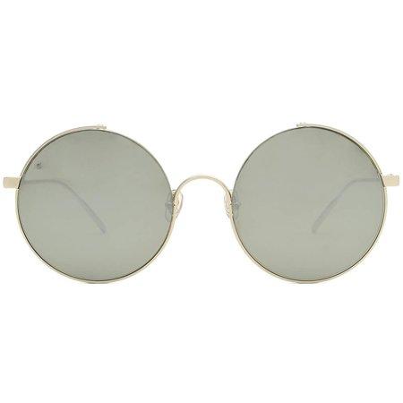 Gigi Barcelona damskie okulary przeciwsłoneczne, duże okrągłe szkła w kolorze szarym