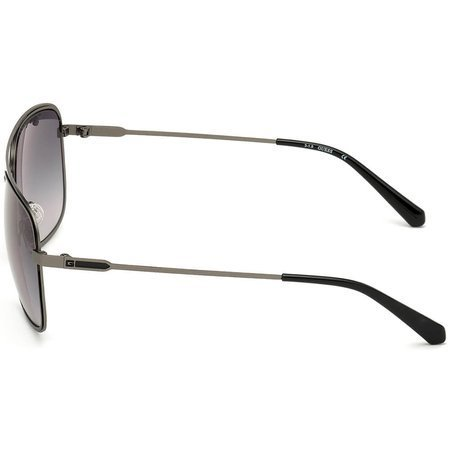 Guess męskie okulary przeciwsłoneczne z podwójnym mostkiem, metalowe, srebrno-czarne