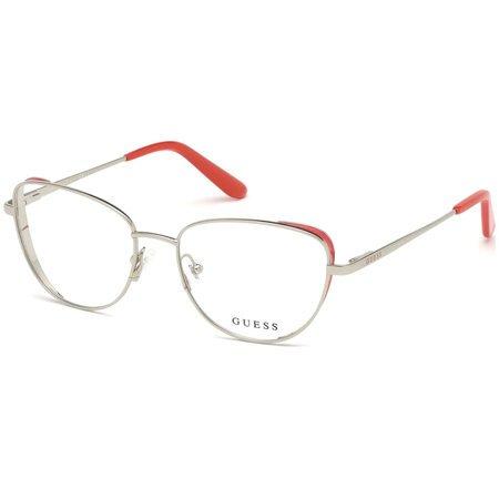 Guess metalowa oprawa w kształcie kocich oczy srebrno-czerwona GU 2701 006